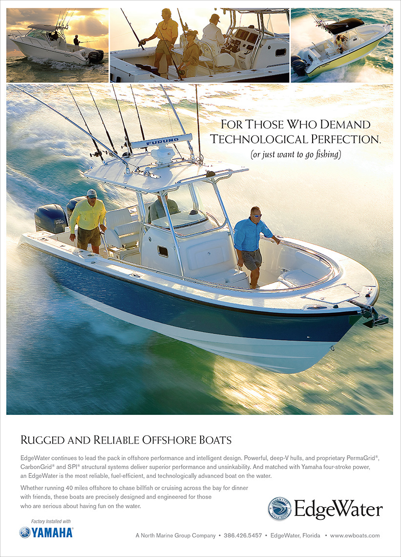 EdgeWater Boats Ad photo, marine, boat photography Robert Holland .indd
