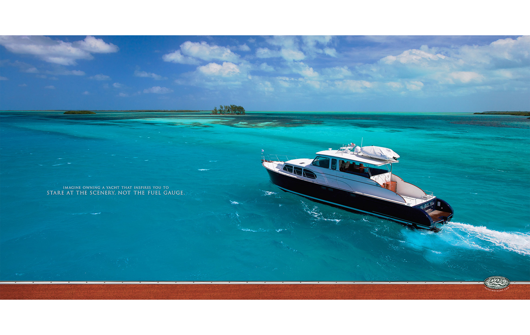 Huckins Yacht Ad photography FUELGAUGE-smaller_Robert-Holland