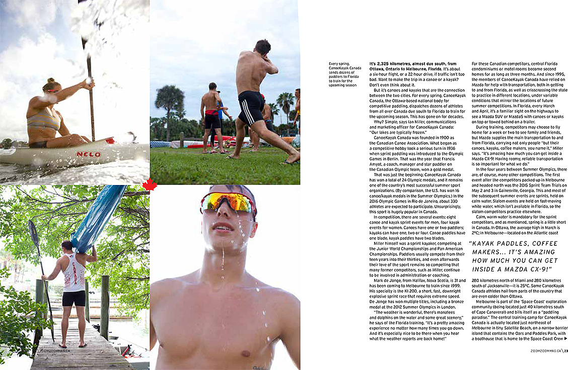 Olympic Canoe Kayak Team for Mazda ZOOM Magazine_editorial 3_Robert Holland
