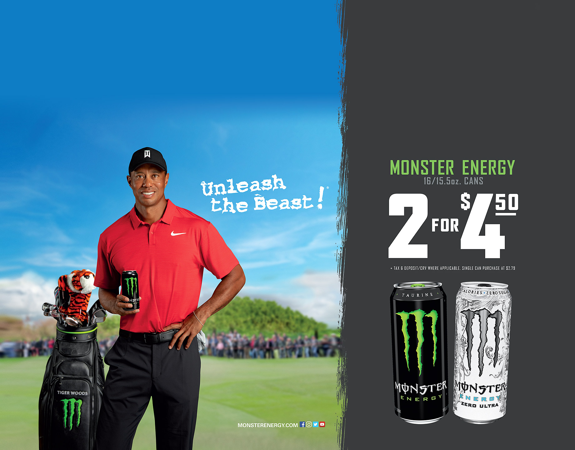 Monster Energy Drink_Tiger Woods_Case Card_Robert_Holland_Photographer